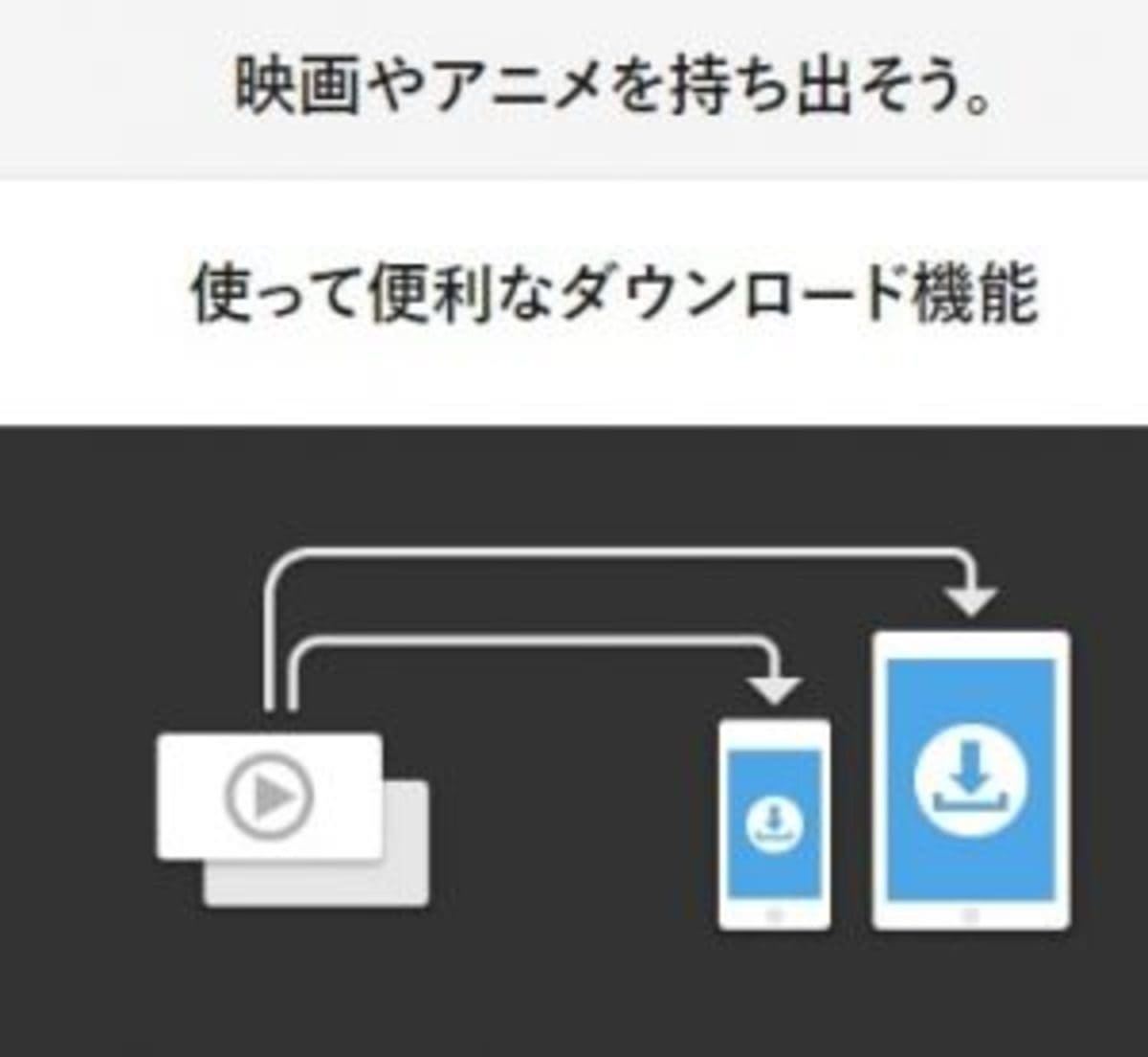 U-NEXTの動画はスマホにダウンロードできる