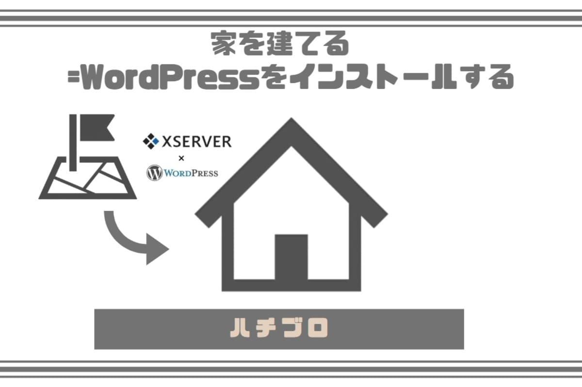 家を建てる(= WordPress をインストールする)