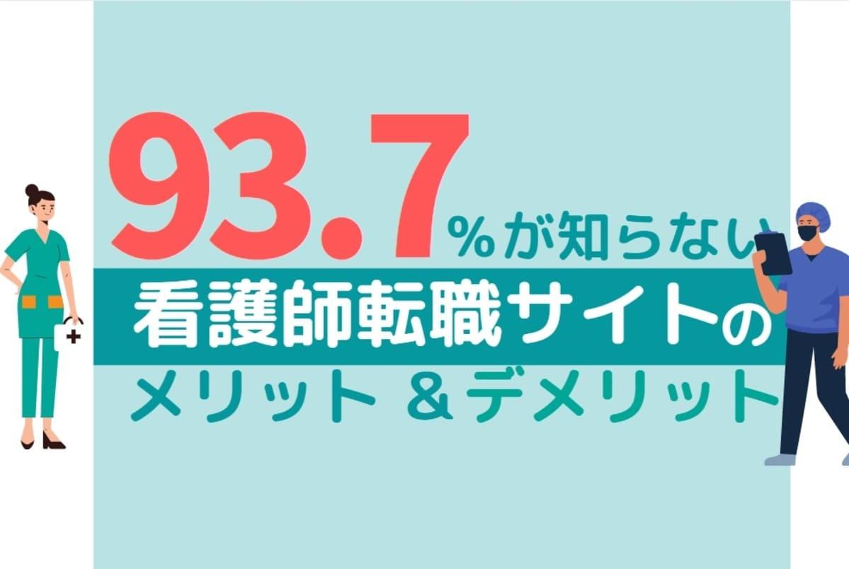 【転職未経験向け】93.7%が知らない看護師転職サイトのデメリットとメリットを解説